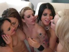 Milfs orgy sex party