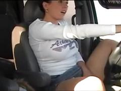 Amateur masturbate while driving a car - pornrough.com