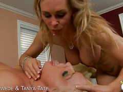 3some with sexy blondes sadie swede & tanya tate.