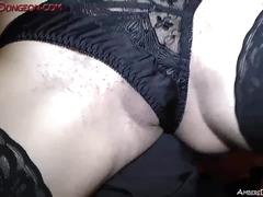 Beautiful femdom mistress athena torments and milks male sla