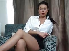 Mistress kandi teases and blackmails loser teacher
