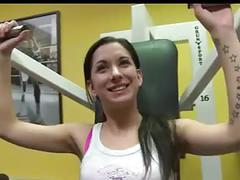 Amateur in gym