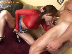 Nasty asian goes for a sloppy wet blowjob
