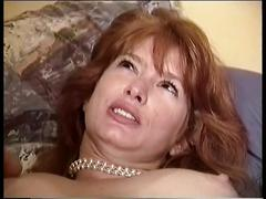 Two dicks for redhead in the threesome