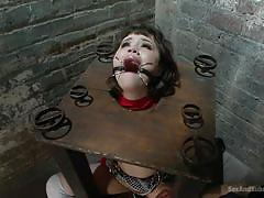 teen, torture, domination, fetish, vibrator, tied up, black hair, nipple clamps, device bondage, sex and submission, kink, bill bailey, yhivi