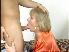 Milf deepthroat & ride dick till cumshot to swallow 1 of 2