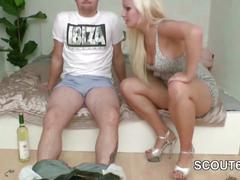 German stepsis get first fuck by stepbro after party in spy