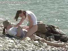 Beach sex for young couple