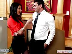 Busty brunette dava foxx gets pussy licked in the office