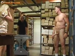 Nasty blonde loves hard cocks at her work place.