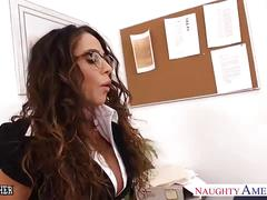 Sex teacher alura jenson gets big tits young fucked