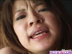 Japanese milf sloppy wet kiss and blowjob