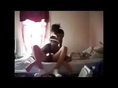 White boy hardcore amateur fuck with black petite teen
