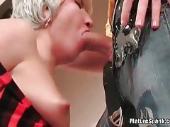 Hot white-haired mature slut fucked