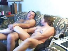 My mum and daddy having fun in living room. hidden cam
