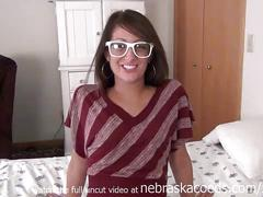 Extremely fresh tanned minnesota teen first time video