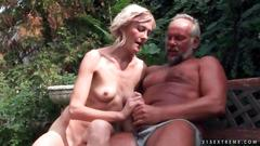 Old couple fucking and pissing on each other