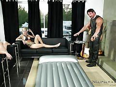 Two bitches offer more than a fine massage