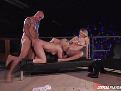 Fucked from behind while licking a pussy @ bullet 2 the top