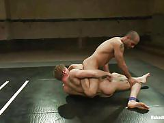 Moans of pleasure in wrestling match