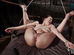 sadism, bdsm, babe, domination, vibrator, brunette, tied up, ball gag, rope bondage, sadistic rope, kink, gabriella paltrova
