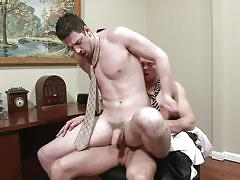 Boss and his pet fucking in the office