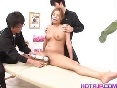Nana yokohama hairy cunt toying to orgasm