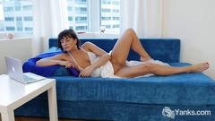 Brunette janey toy her delicious snatch