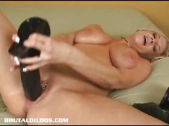 masturbation, big tits, blonde, solo, pussy, milf,