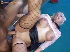 Nasty blonde emily rough fucking with anal action