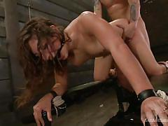 bdsm, babe, torture, domination, vibrator, tied up, from behind, ball gag, device bondage, sex and submission, kink, mr. pete, abella danger