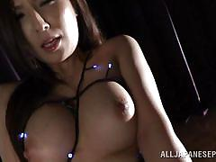 milf, asian, solo, masturbation, brunette, cosplay, big breasts, sexy lingerie, j cos play, all japanese pass, yuna shiina