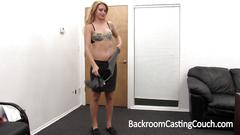 Allissa auditions at backroom casting couch