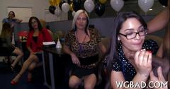 Strippers big black dick sucked off by office sluts