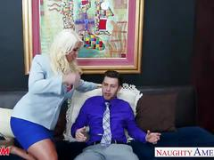 Blonde mom alura jenson gets large tits fucked
