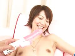 Hazuki miriya fucks and gets loaded with man gravy