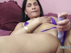 Exotic milf naomi shah uses a toy on her wet twat.