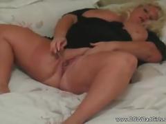 Amateur blonde bbw babe