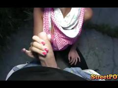 Hot young girl fucking outdoor