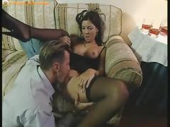 Brunette slut gets her tight butt hole fucked hard