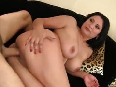 Hot curvy brunette stepmom has sex with stepson