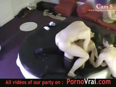 Spy cam at french private party! camera espion en soiree privee. part370