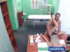 Fakehospital tight pussy makes doctor cum twice