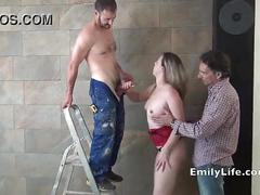Threesome with real swinger amateur milf and housewife