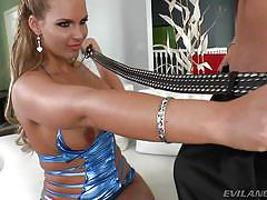 blonde, big ass, high heels, deepthroat, busty milf, sexy lingerie, clothespins, boobs groping, evil angel, xander corvus, phoenix marie
