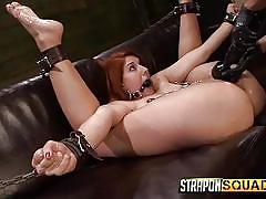Rose red gets fucked with strap on