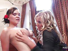 Harmony vision horny busty lesbians