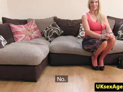 British porn casting with anal creampie slut