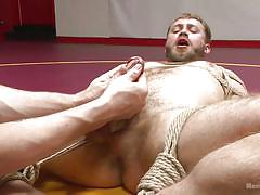 bdsm, torture, hand job, tied up, gay handjob, gay blowjob, gay, gay domination, rope bondage, men on edge, kink men, nathan martin