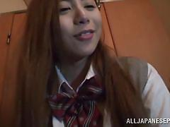 Little asian teen fucked by her teacher in a toilette